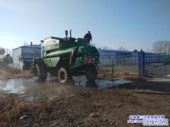 在黑龙江创业农场开展农机具清洗 为明年做准备